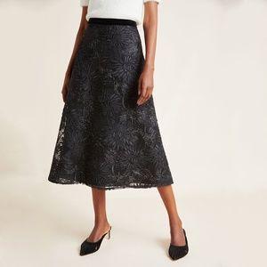 Anthro Suzette Textured Midi Skirt Eva Franco